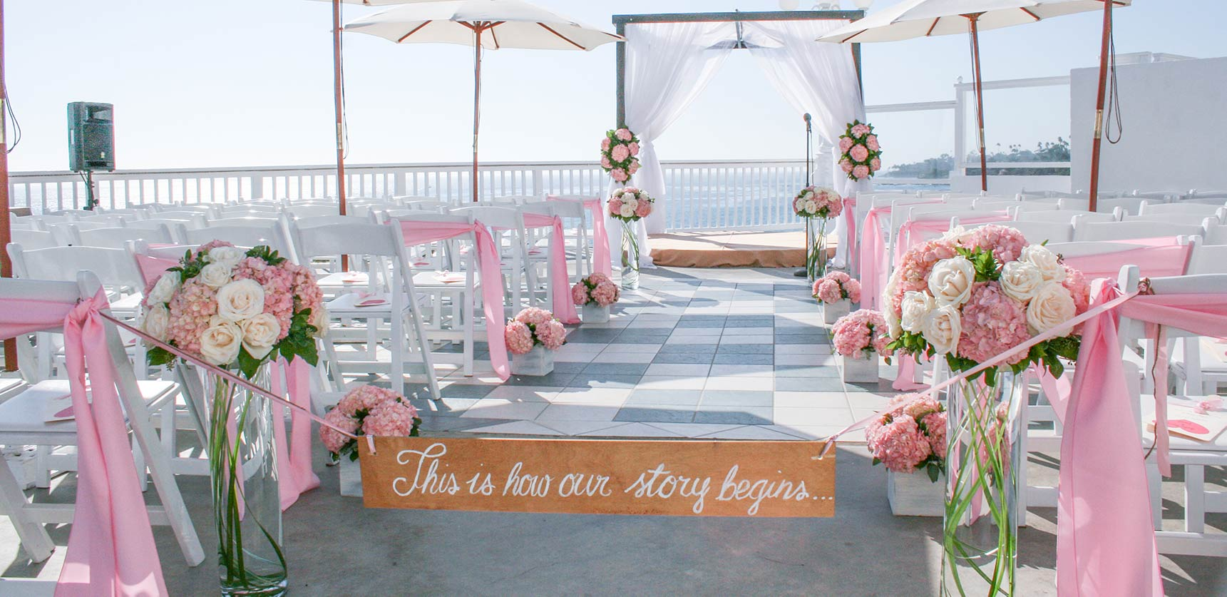 Wedding ceremony flowers occasions at laguna beach
