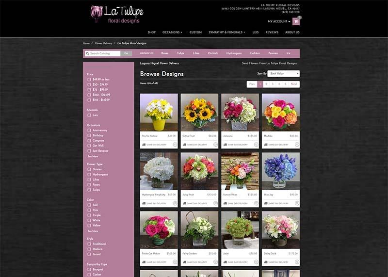 La Tulipe flowers site image