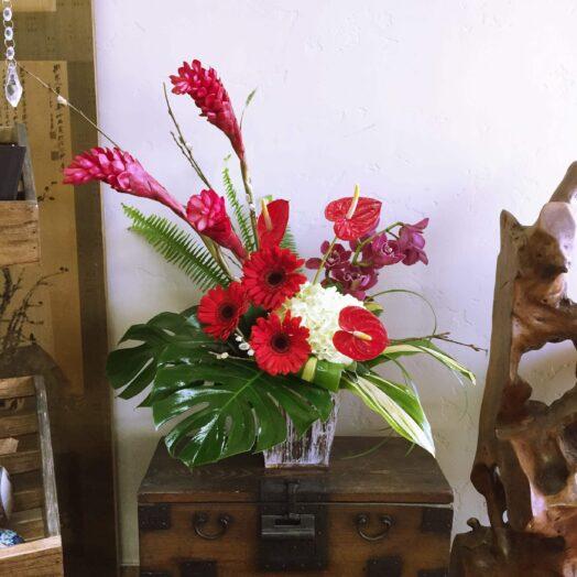 big tropical arrangement