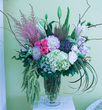 big flower arrangement