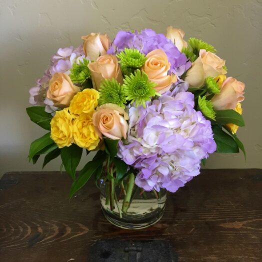 Easter egg flower bouquet