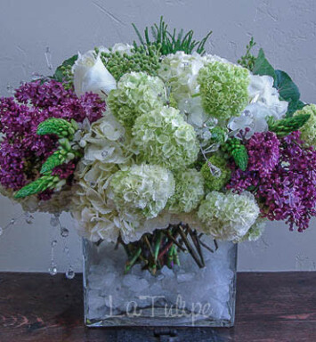 lilacs and hydrangeas