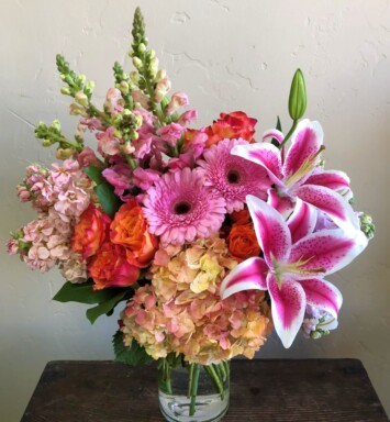 roses lilies and snapdragons