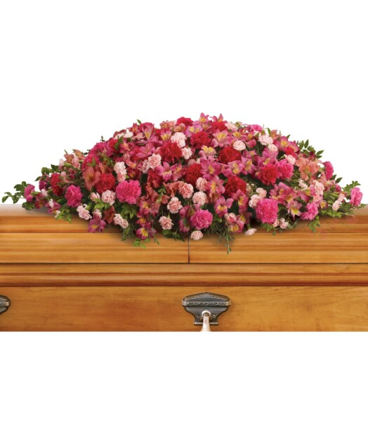 dark pink alstroemeria, hot pink carnations, pink carnations and miniature light pink carnations