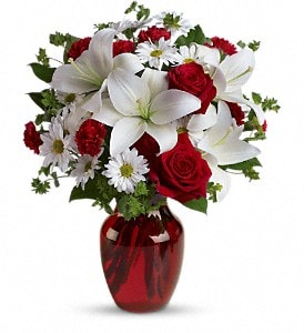 Red roses and carnations