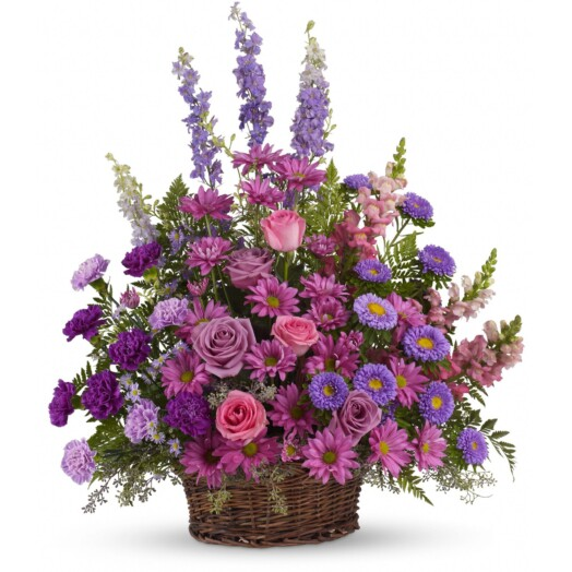 A profusion of purple, pink and lavender blooms