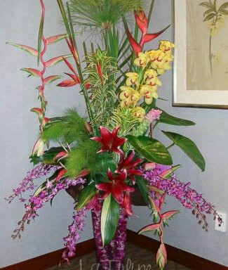 big tropical arrangement