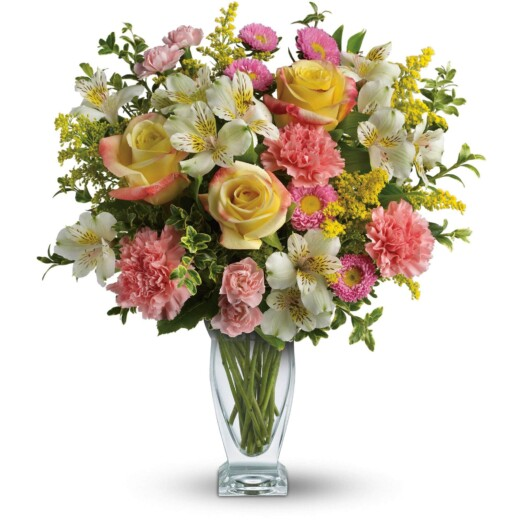roses carnation bright color bouquet