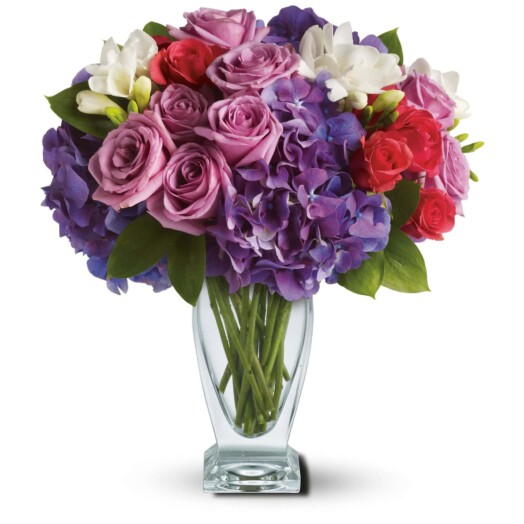 lavender and roses and hydrangeas