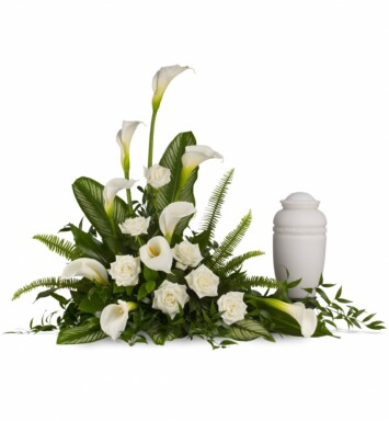 graceful calla lilies and white roses