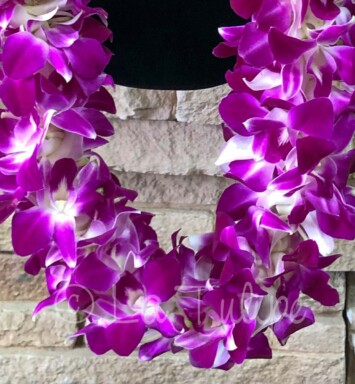 triple dendrobium orchids hawaiian lei
