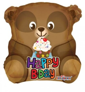 Brown Bear helium balloon