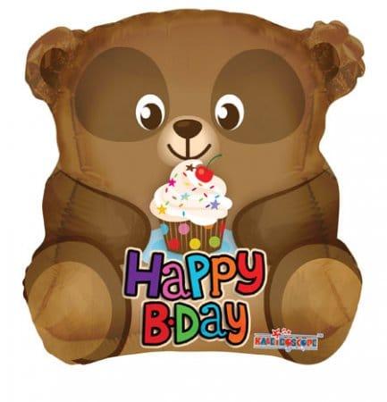 Brown Bear helium balloon
