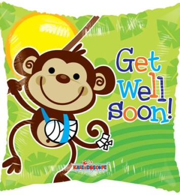 Helium money get well soon balloon