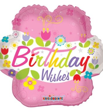Birthday Wishes Flower Helium Balloon