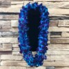 Triple Bombay Blue Orchid Hawaiian Lei