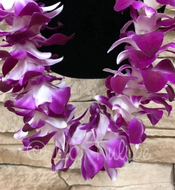 Double Bombay Purple Orchid Hawaiian Lei