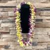 Double Bombay Purple Orchid & Yellow Plumeria Hawaiian Lei